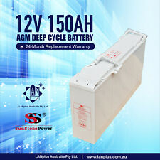 Slim Front Terminal 12V 150AH AGM Deep Cycle Dual Purpose SLA Battery Solar 4WD
