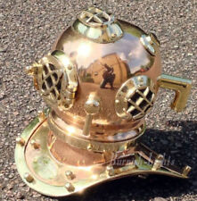 Antique Brass Copper Solid Divers Diving Helmet U S Navy Mark V DECORATIVE GIFT