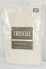 "Croscill Hammond Sheer Rod-Pocket Tailored Panel - 47"" x 84"" - Ivory"