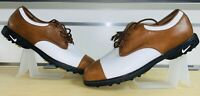 NIKE Women's Leather Golf Shoes Brown/White Saddle - Style Air Q-Lok (Size 9.5)
