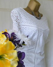 """***MONSOON PRE-OWNED """"ROSALIE BRODERIE WHITE"""" DRESS SIZE 12***"""