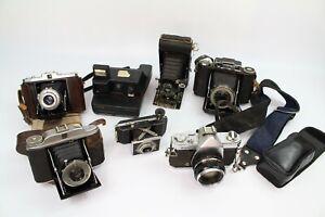 Vintage Camera Job Lot - Bundle of 7 Cameras -Kodak Polaroid Kowa Zeiss UNTESTED