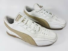 Puma Trinomic UK 4.5 borchie in pelle bianca