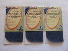 "Iron on Denim Patches Dark Blue 6 Pieces Sew Repair Mend Jeans 5"" x 5"""