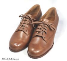 WWII women's WAC, ANC, ARC reproduction oxfords. 1940's shoes.
