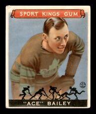 ACE BAILEY  33-34 GOUDEY SPORT KING  GUM 1933-34 NO 29 VG+ 17412