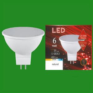 6W (=35W) LED 12V 6500K Natural Daylight MR16 GU5.3 Spot Light Bulb Lamp