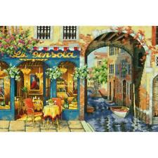 """Dimensions Gold Collection Counted Cross Stitch Kit Charming Waterway 11""""X16"""""""