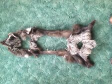 Bag#7 Tanned Silver Fox scrap pieces fur pelt Fly Tying smaller native craft