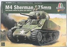Italeri 15651 1/56 scala M4 Sherman 75mm kit modello NUOVO INSCATOLATO