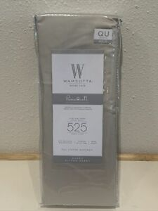 Wamsutta Fitted TC Solid Silver Queen Sheet 525 thread count pima cotton