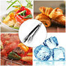Small Stainless Steel Cooking Kitchen Tongs Food Utensil BBQ Salad Bacon Tool