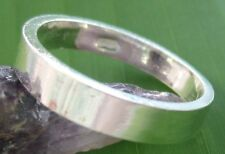 100 % 925 sterling silver (4mm FLAT THICK) Wedding Band Ring 4.25 -13.75 UNISEX
