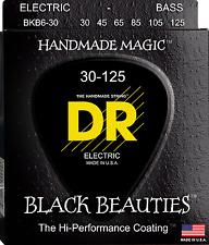 DR Strings BKB6-30 BLACK BEAUTIES Coated Bass Guitar Strings - Medium - 6-String