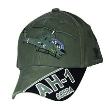 09d948b449a AH-1 COBRA Officially Licensed Military Baseball Cap Hat OD Green
