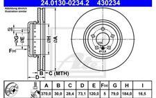 ATE Disco de freno x1 370mm ventilado para BMW Serie 3 4 24.0130-0234.2