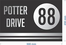 Custom Black & Silver House Address Signs 300mm x 200mm