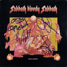 BLACK SABBATH Bloody FULLY SIGNED Vinyl LP Ozzy Osbourne Tony Iommi +2 AUTOGRAPH