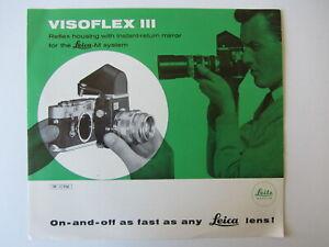 1967 Vintage Visoflex III Leica Lens Brochure for Leica M System