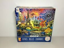 Paris Cities Series by Ceaco 1000 pc Jigsaw Puzzle with Free Poster Eiffel tower