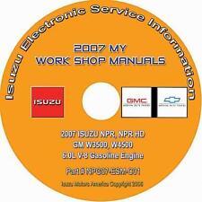 2007 Isuzu NPR NPR HD GMC Chevy W3500 W4500 Truck w/6.0L Gas Repair Manual