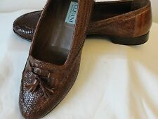Alfani Italy men brown shoes size 10 all leather