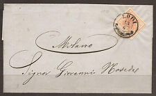 AUSTRIA / ITALY / LOMBARDY VENEZIA. 1858. COVER WITH 15c CANCELLED LODI. ADDRESS