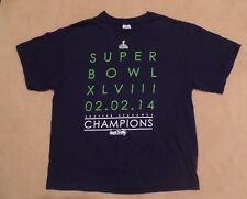 Seattle Seahawks NFL 2014 Super Bowl  Championship t shirt, XL, navy w/ green
