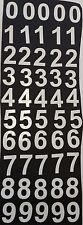 WHITE ADHESIVE VINYL NUMBERS 2 inch tall x 50