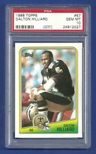 1988 TOPPS #57 DALTON HILLIARD ROOKIE RC PSA 10 GEM MINT POP 24 SAINTS