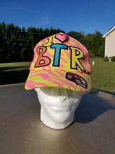 I Heart Love BTR Big Time Rush Girly Colorful Mesh Baseball Cap Snapback RARE