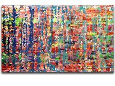 XXL Malerei 150x90 cm im Stil von Gerhard Richter Abstrakte Kunst Art Gemälde