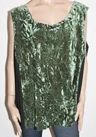 CurVaLiscious Brand Green Velvet Tank Top Plus Size BNWT #SX76