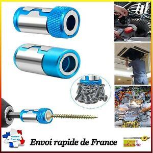 2 X Porte Embout Magnétique Visseuse Tournevis Tête Anneau Aimant Vis