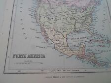Antique Map 1890 - NORTH AMERICA - From Philips Atlas For Beginners  §25