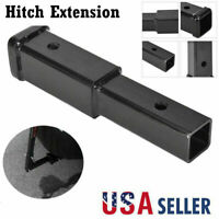 """8"""" Trailer Hitch Extension For 2"""" Receiver Extender 5/8"""" Pin Hole 4000Lbs Tow US"""
