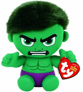 "TY BEANIE - HULK MARVEL  6"" plush Soft Toy 41191"