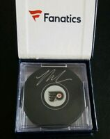 FANATICS COA ON BACK SIDE OF PUCK ONLY! NICK COUSINS SIGNED FLYERS PUCK + CUBE!