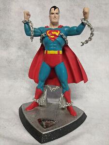 "Hallmark GOLDEN AGE 1940 Superman ""Man of Steel"" Statue Figurine New in Box!"