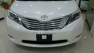 MIT for TOYOTA SIENNA 2011-2017 Front grill ABS chrome cover trim garnish