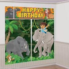 GO DIEGO GO SCENE SETTER KIT (5pc) ~ Birthday Party Supplies Plastic Poster Dora