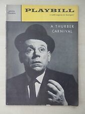 May 2nd, 1960 - ANTA Theatre Playbill - A Thurber Carnival - Tom Ewell - Cass