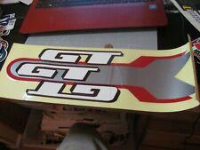 VINTAGE GT MTB BMX FRAME RED STICKER DECAL ORIGINAL RARE OLD STOCK LARGE