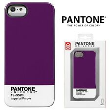 Pantone Case For iPhone 5 5S SE Thin Hybrid Phone Cover Shockproof Luxury Purple