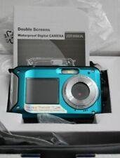 Dual Screen Waterproof Camera 24MP with 16 x Zoom Underwater Shockproof Digital