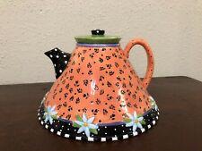 Mary Engelbreit Teapot Flared Bottom Short Spout Full Size 1997 Charpente