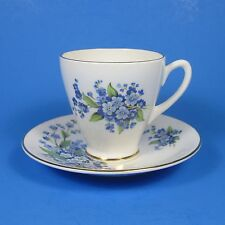 Royal Windsor Forget Me Not Demitasse Cup & Saucer Set Bone China England