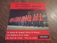 45 tours LES CHOEURS DE L'ARMEE ROUGE direction BORIS ALEXANDROV le temps des mu
