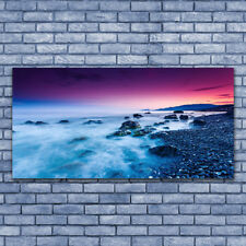 Tulup Acrylglasbilder Wandbilder Dekobild 140x70 Meer Strand Landschaft