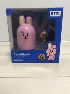 BT21 Friends Duo Bluetooth Official portable Speaker & Figure Set Cooky Shooky !